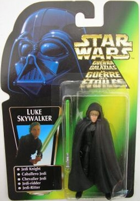 Star Wars Action Figure - Luke Skywalker Jedi Knight - Short Lightsaber / Rem-Cloak