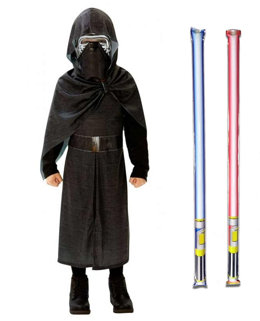 Star Wars Costume Deluxe Child - Kylo Ren The Force Awakens - WITH x2 FREE LIGHTSABERS
