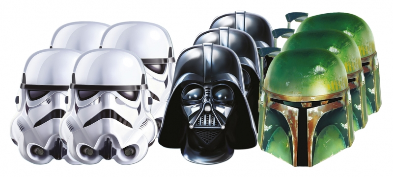 Star Wars MASKS - Character Mask Party Pack 12 - 4 x Stormtrooper - 3 x Darth Vader - 3 x Boba Fett