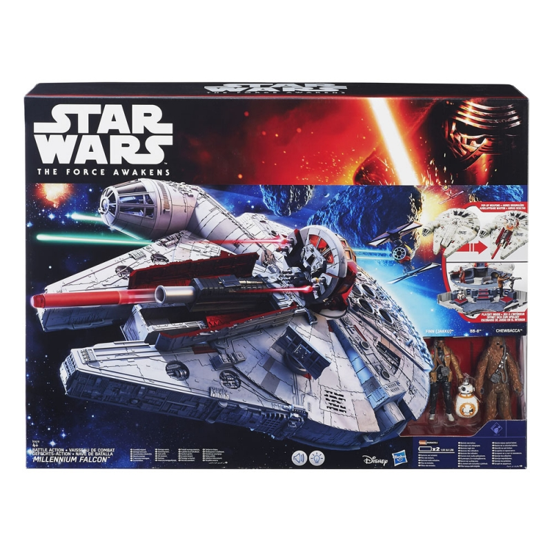 Star Wars VEHICLES - The Force Awakens Battle Action Millennium Falcon - 50% OFF