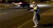Jedi-Robe.com Stormtrooper Plays with Traffic