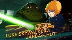 Luke vs. Jabba - Sail Barge Escape | Star Wars Galaxy of Adventures
